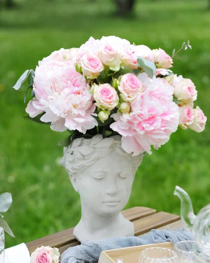 Фото 2 - Арт-ваза Античная девушка.