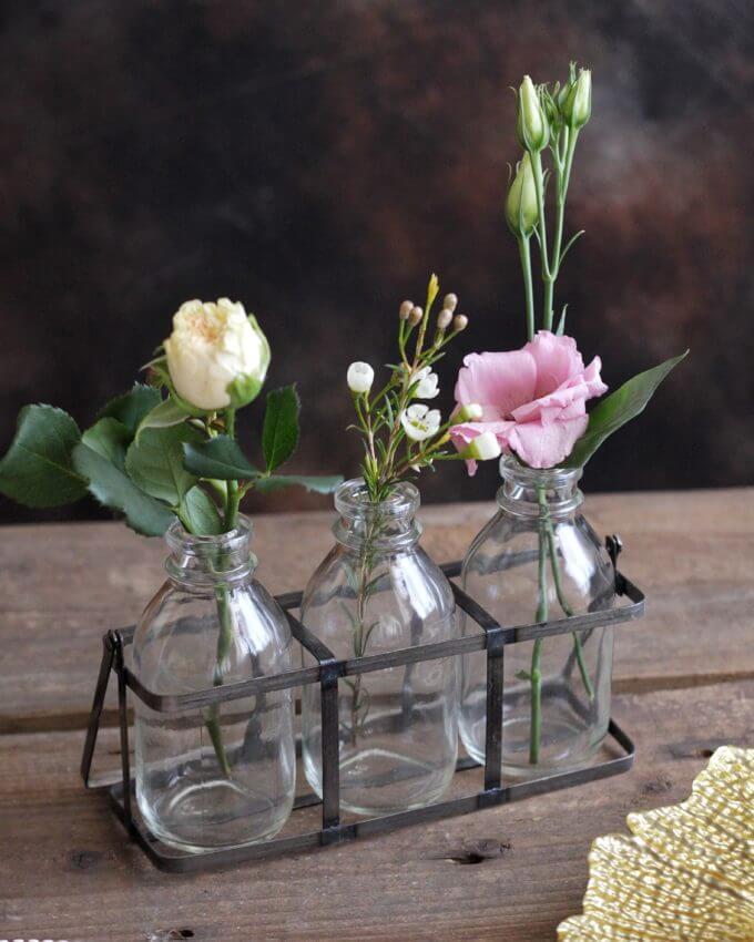 Фото 1 - Сет из 3 бутылочек на железной подставке.
