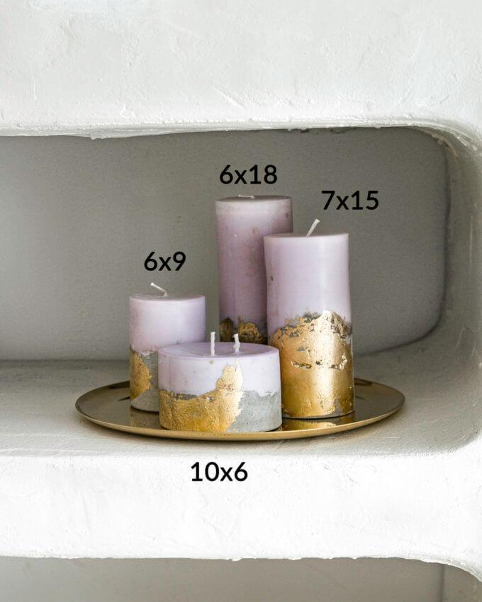 Фото 2 - Свечи Lilac & Gold.