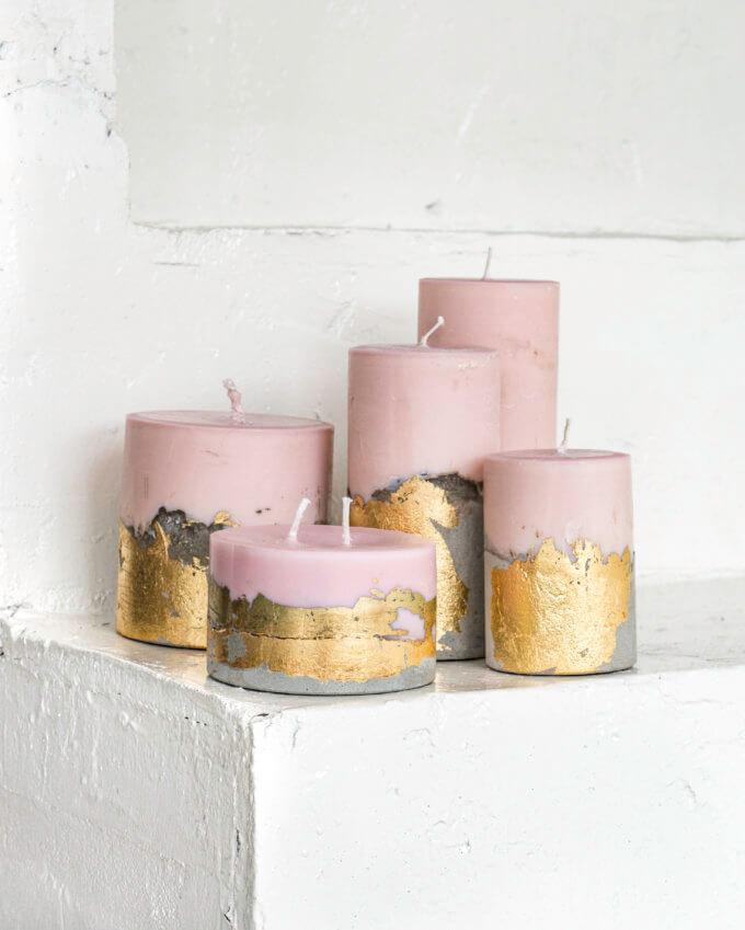 Фото 1 - Свечи Pink & Gold.
