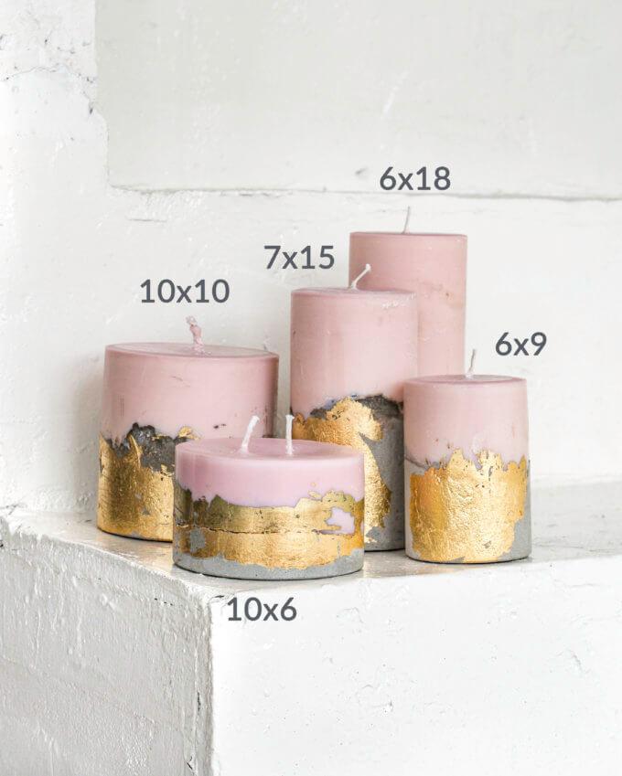 Фото 2 - Свечи Pink & Gold.