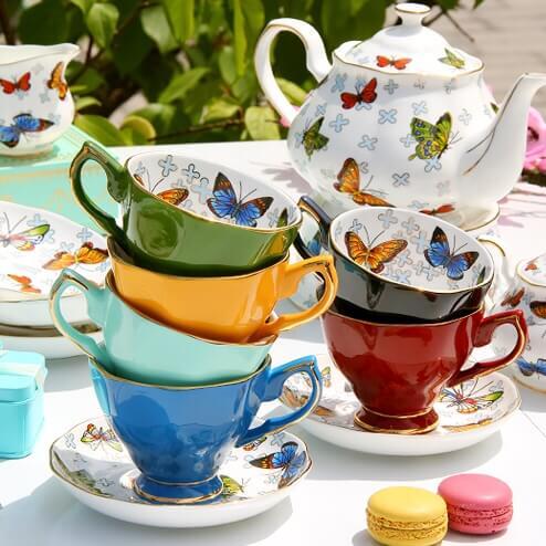 Фото 1 - Предметы из чайного набора Butterflies.