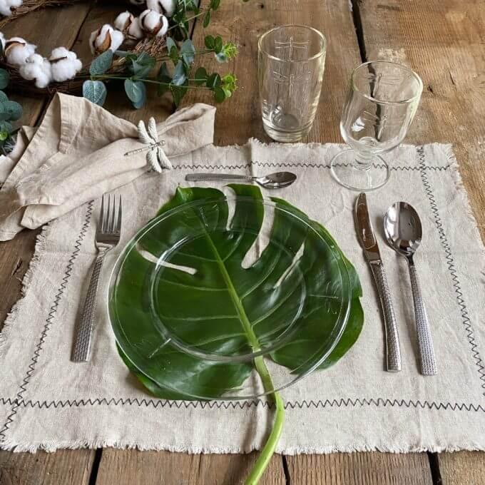 Фото 3 - Стеклянная тарелка со стрекозами -50%.