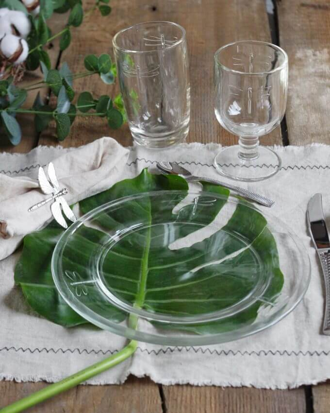 Фото 2 - Стеклянная тарелка со стрекозами -50%.
