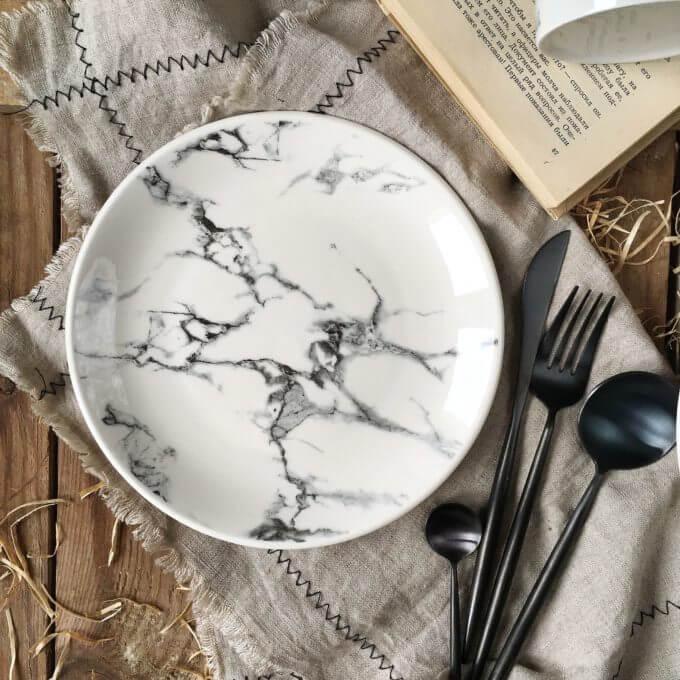 Фото 3 - Мраморная тарелка.