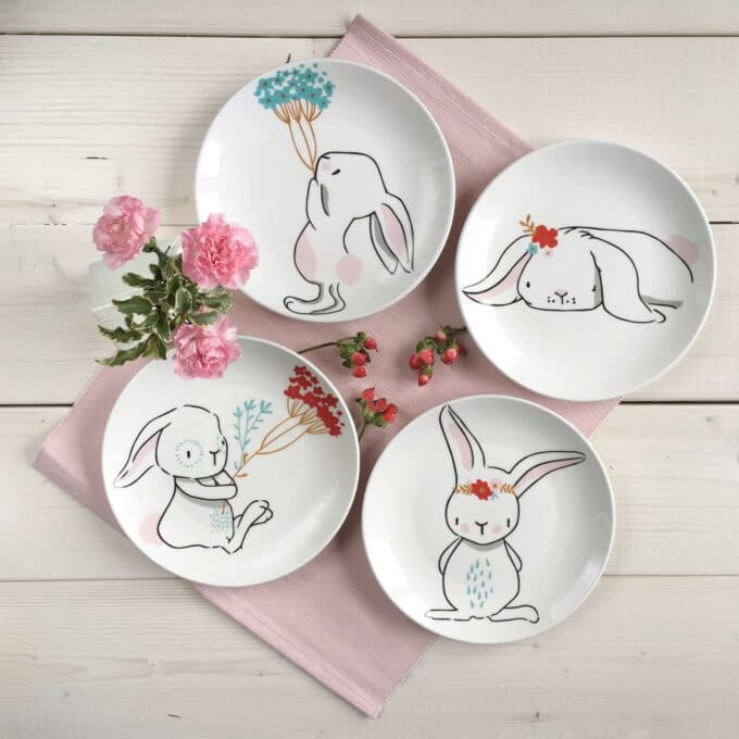 Фото 1 - Тарелки с кроликами Love Bunny.