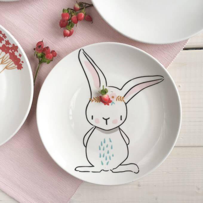 Фото 4 - Тарелки с кроликами Love Bunny.