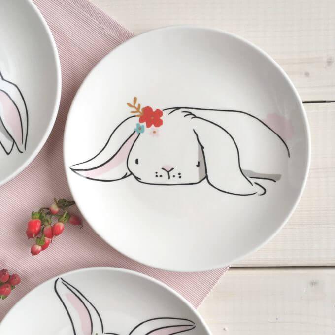 Фото 2 - Тарелки с кроликами Love Bunny.