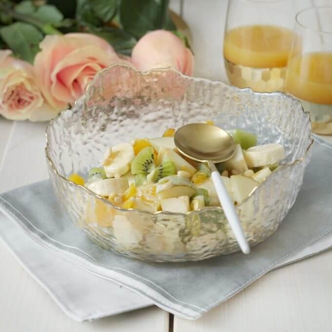 Фото 4 - Прозрачные салатники с золотым краем.