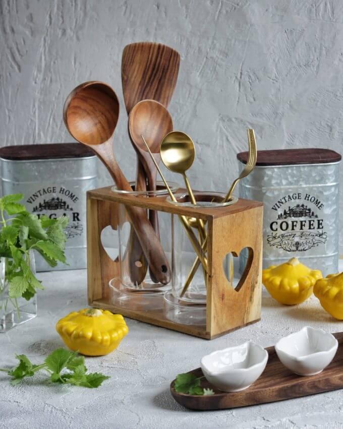 Фото 5 - Принадлежности для кухни из тикового дерева.