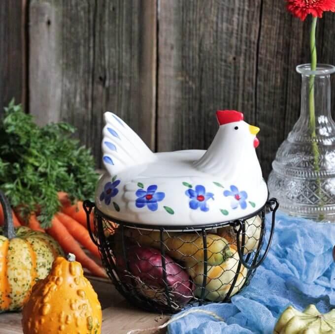 Фото 8 - Корзина для хранения Chicken Basket.