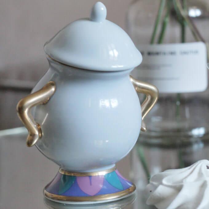 сахарница mrs potts, посуда красавица и чудовище
