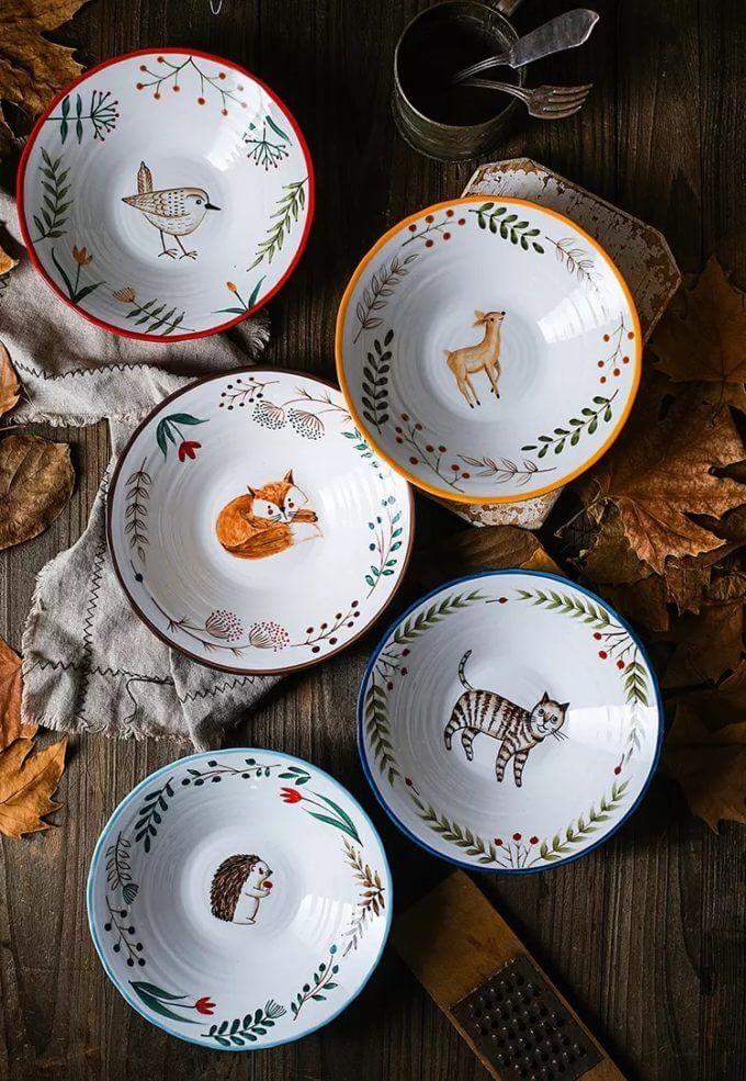 Фото 1 - Глубокие тарелки с животными.