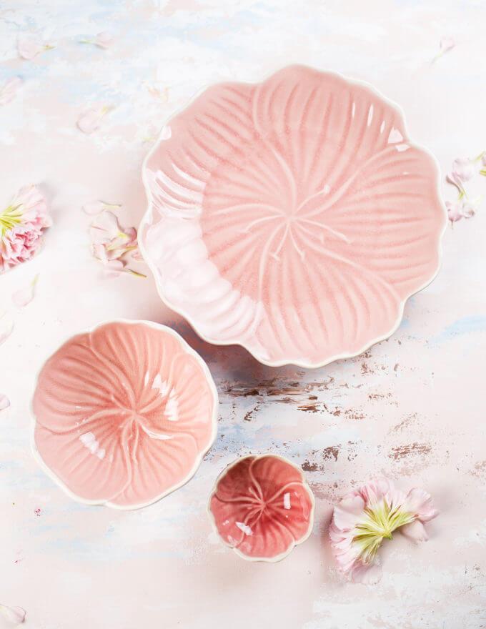 Фото 1 - Тарелки Daffodil розовые -15%.