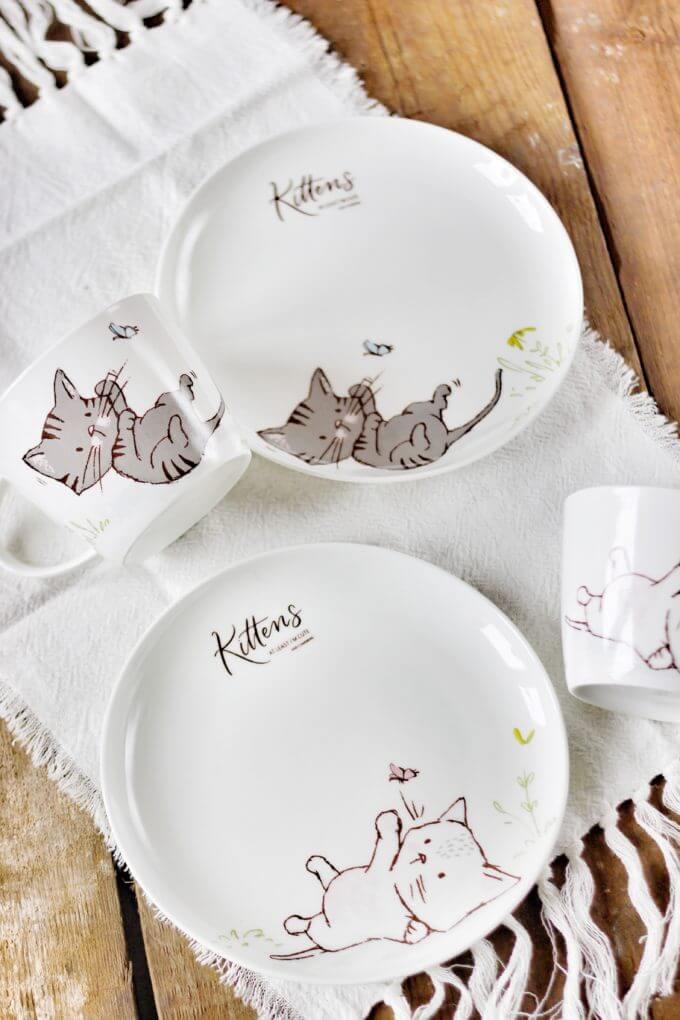 Фото 2 - Посуда из костяного фарфора Kittens.