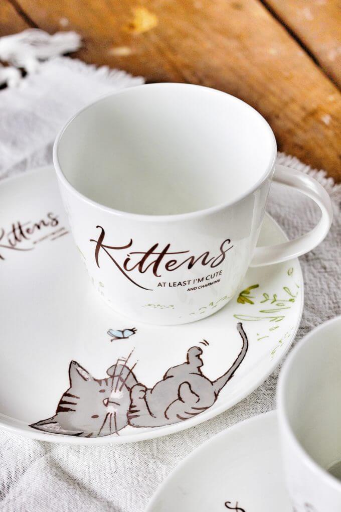 Фото 3 - Посуда из костяного фарфора Kittens.