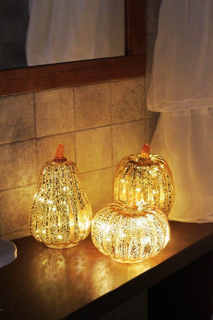 Фото 1 - Декор Светящиеся тыквы.