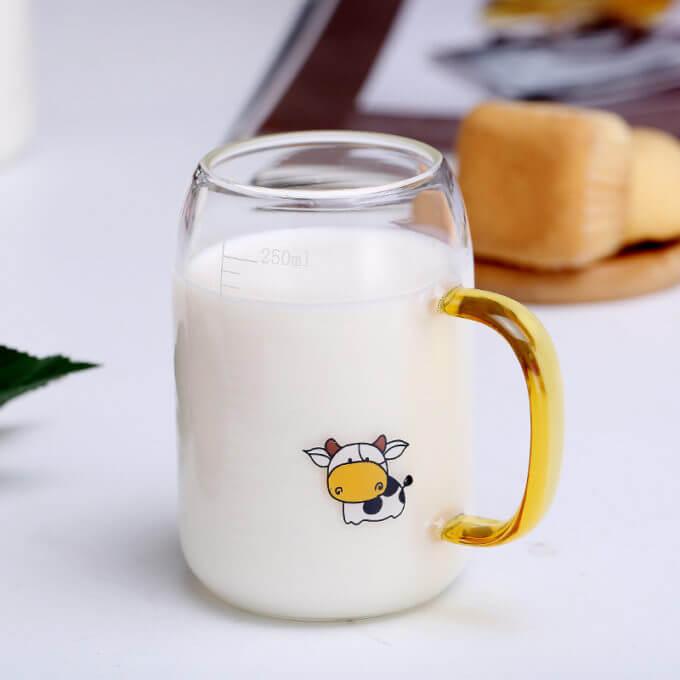 Фото 1 - Стеклянная кружка с коровкой (СИМВОЛ ГОДА!) -20%.