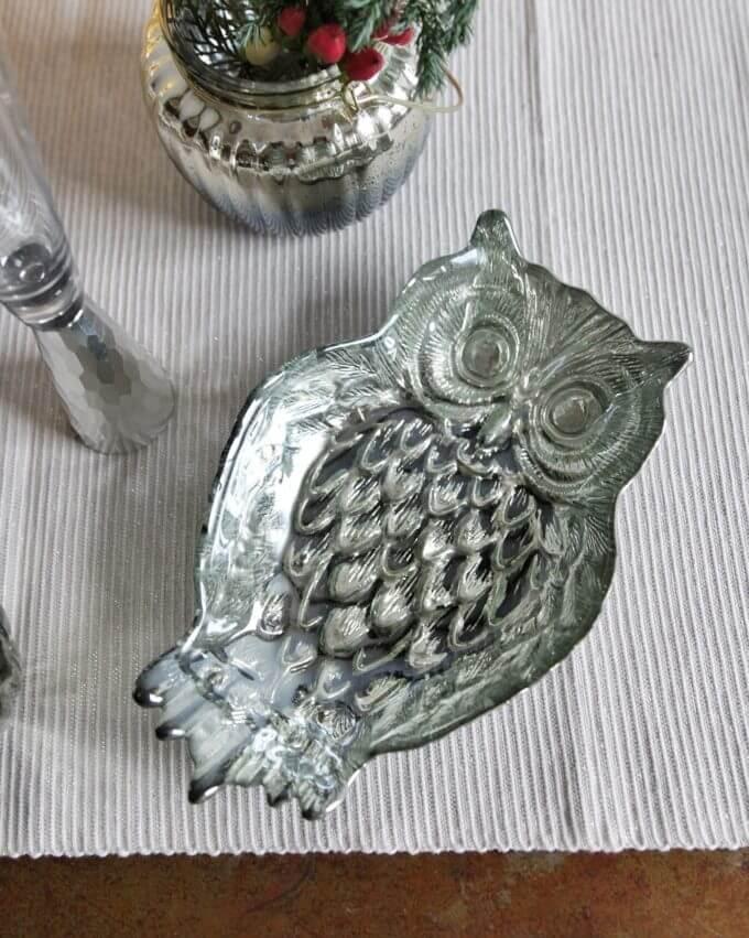Фото 1 - Серебряная тарелочка Owl.