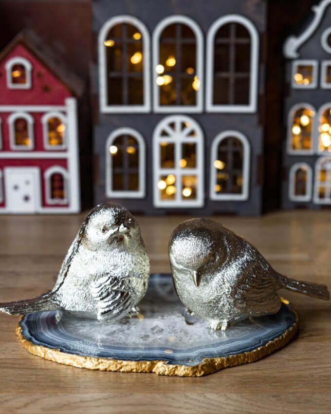 Фото 1 - Набор из 2 золотых птичек.