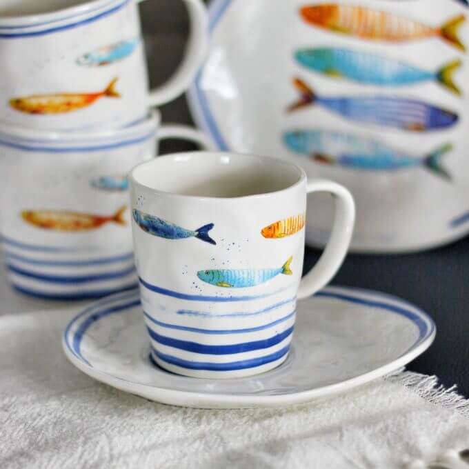 Фото 1 - Чайная пара с рыбами.