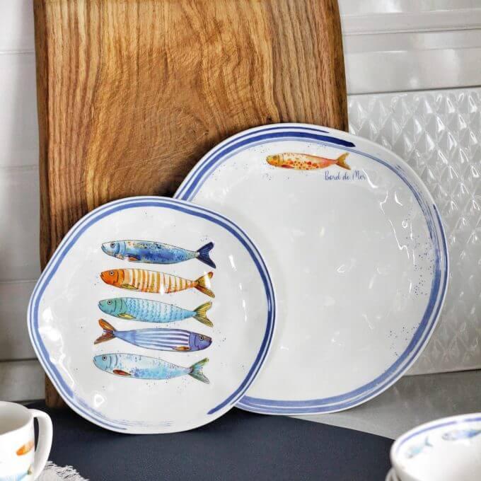 Фото 1 - Плоские тарелки с рыбами.
