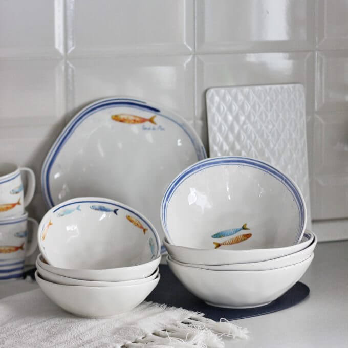 Фото 1 - Глубокие тарелки с рыбами.