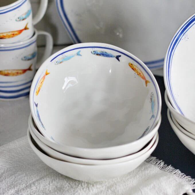 Фото 2 - Глубокие тарелки с рыбами.