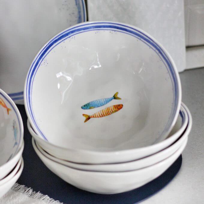 Фото 3 - Глубокие тарелки с рыбами.