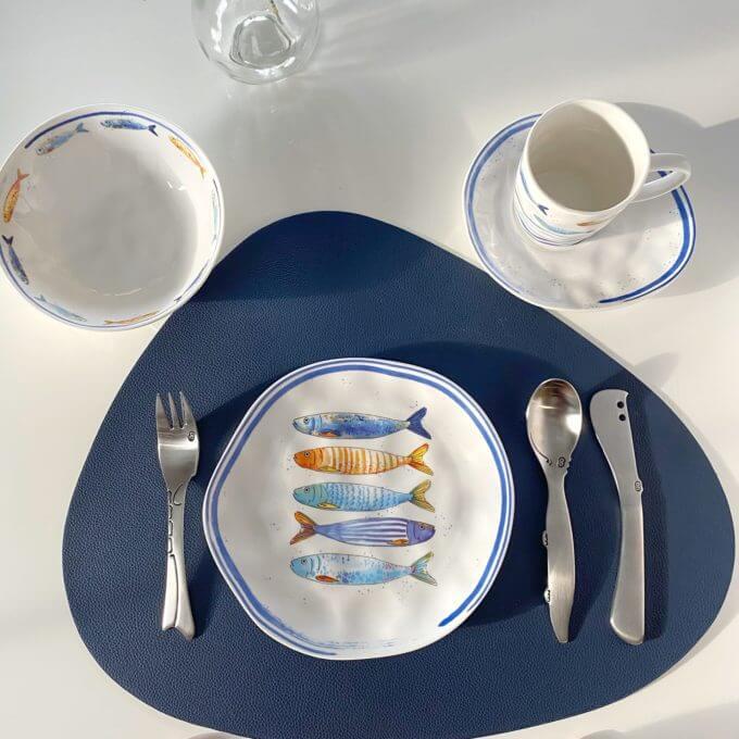 Фото 2 - Плоские тарелки с рыбами.