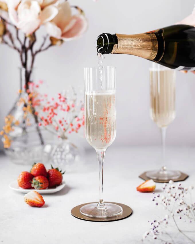 Фото 1 - Бокалы для шампанского из хрустального стекла (2шт).