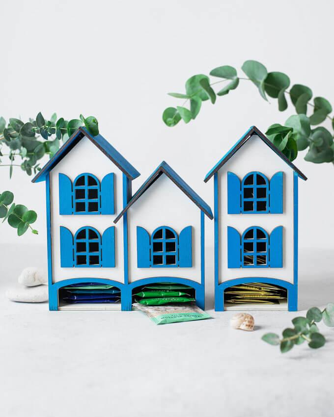 Фото 2 - Греческие домики для чайных пакетиков.
