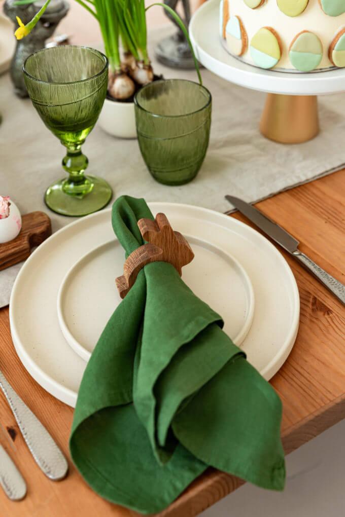 Фото 1 - Деревянное колечко для салфеток Bunny.