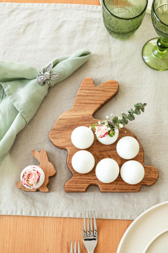 Фото 1 - Деревянная подставка Bunny для 6 яиц.