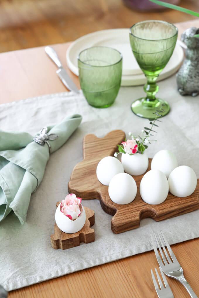 Фото 2 - Деревянная подставка Bunny для 6 яиц.