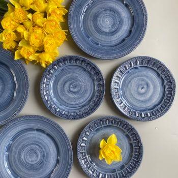 Фото 4 - Плоские синие тарелки Augusta.