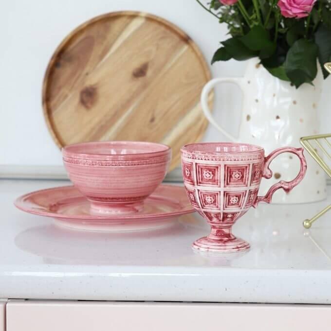 Фото 1 - Розовая пиала Augusta.