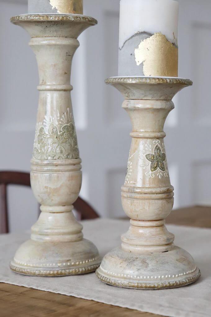 Фото 2 - Деревянные подсвечники со вставками из латуни.
