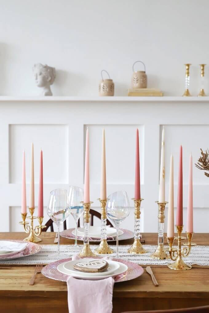 Фото 1 - Высокие столовые свечи.