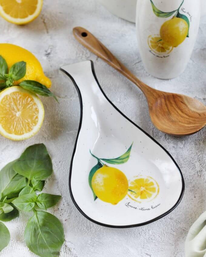 Фото 1 - Подставка для ложек с лимонами.
