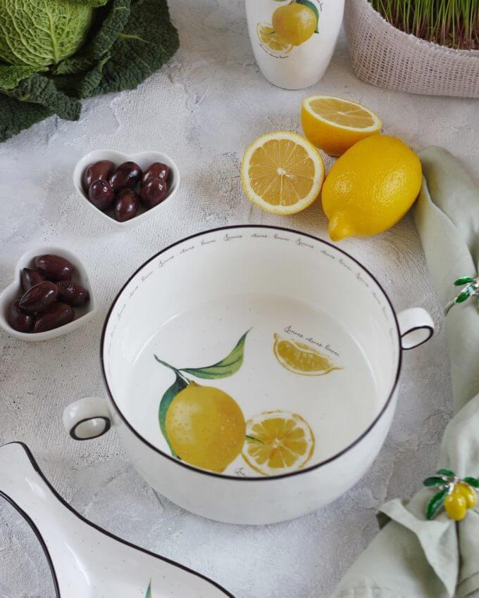 Фото 1 - Салатник большой с лимонами.