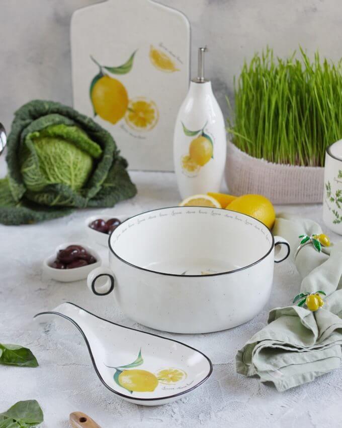 Фото 2 - Подставка для ложек с лимонами.