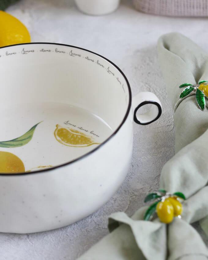 Фото 2 - Салатник большой с лимонами.