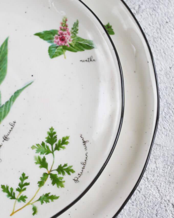 Фото 3 - Плоские тарелки с травами.