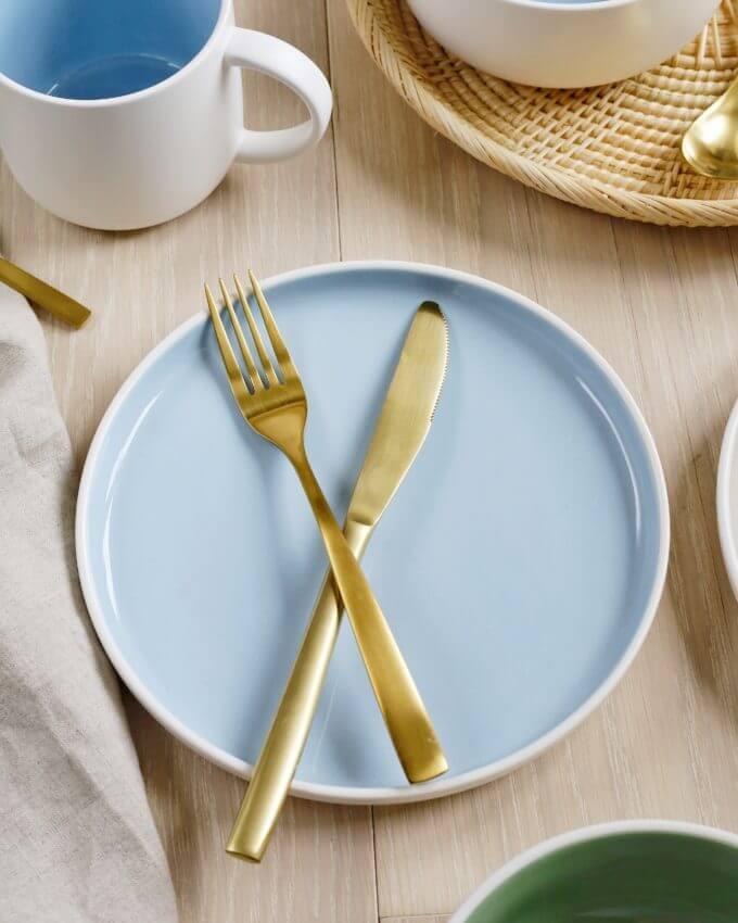 Фото 4 - Набор посуды в голубом оттенке.