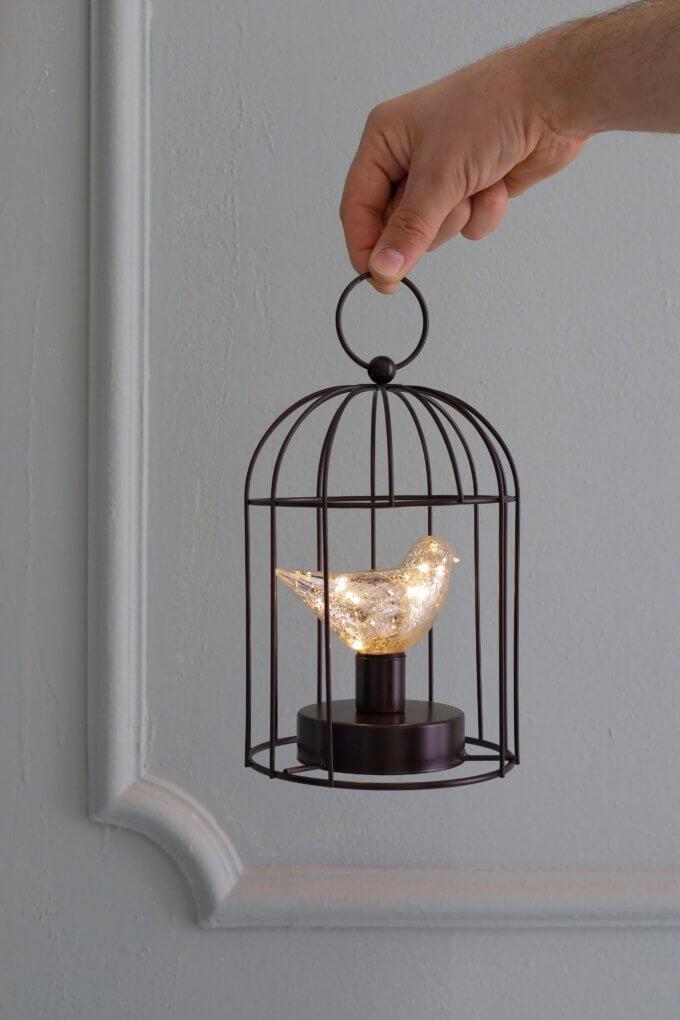 Фото 1 - Клетка с LED птицей.