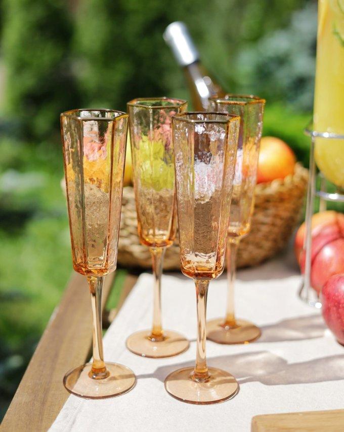 Фото 1 - Бокалы для шампанского Peach (2шт.).