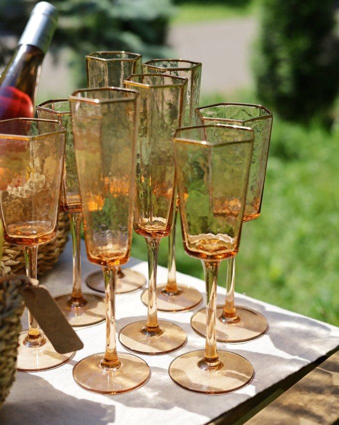 Фото 2 - Бокалы для шампанского Peach (2шт.).