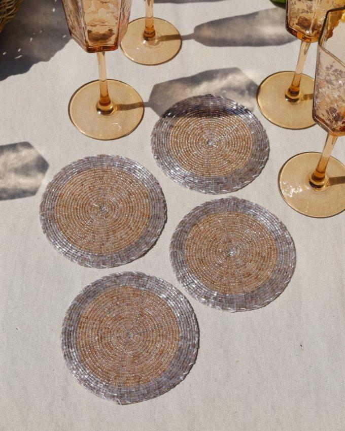 Фото 3 - Коастеры для бокалов из бисера (4шт.).