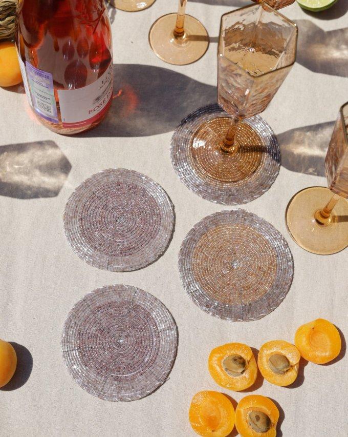 Фото 1 - Коастеры для бокалов из бисера (4шт.).